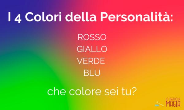 significato colori personalità